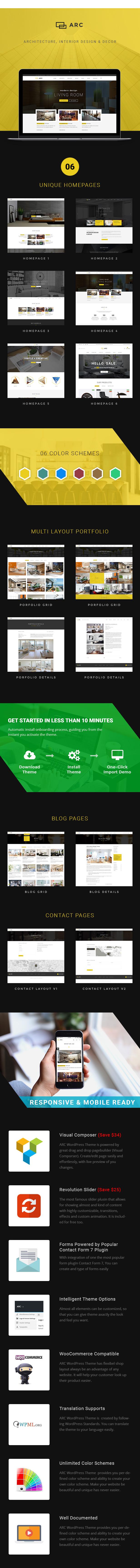ARC - Interior Design, Decor, Architecture WordPress Theme